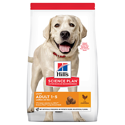 Hills Canine Adult Light Large Breed Chicken 14kg
