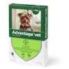 Loppemiddel Advantage hund 0-4kg, 4x0,4ml