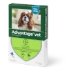 Loppemiddel Advantage hund 4-10kg, -4x1ml